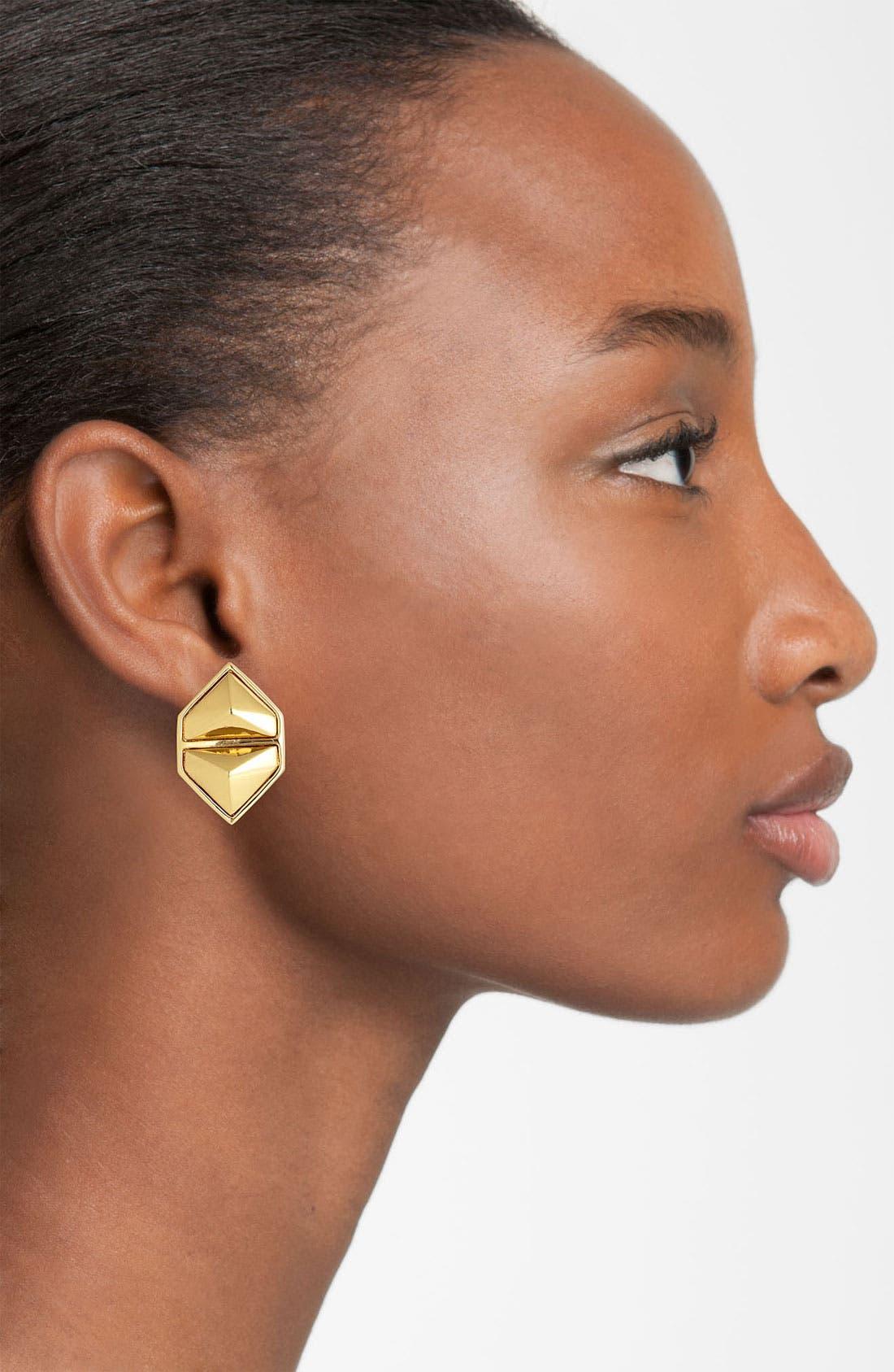 Alternate Image 2  - Vince Camuto 'Clean Slate' Clip Stud Earrings