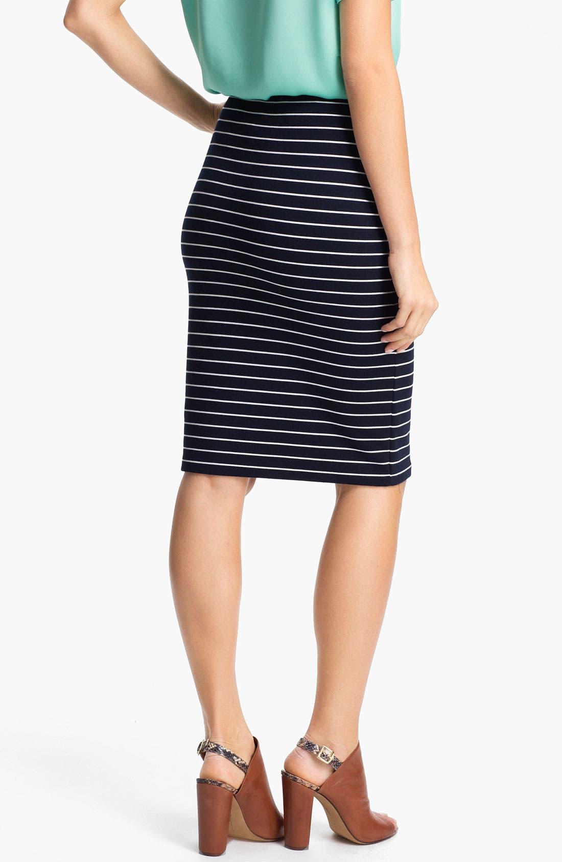 Alternate Image 2  - Vince Camuto Stripe Pencil Skirt