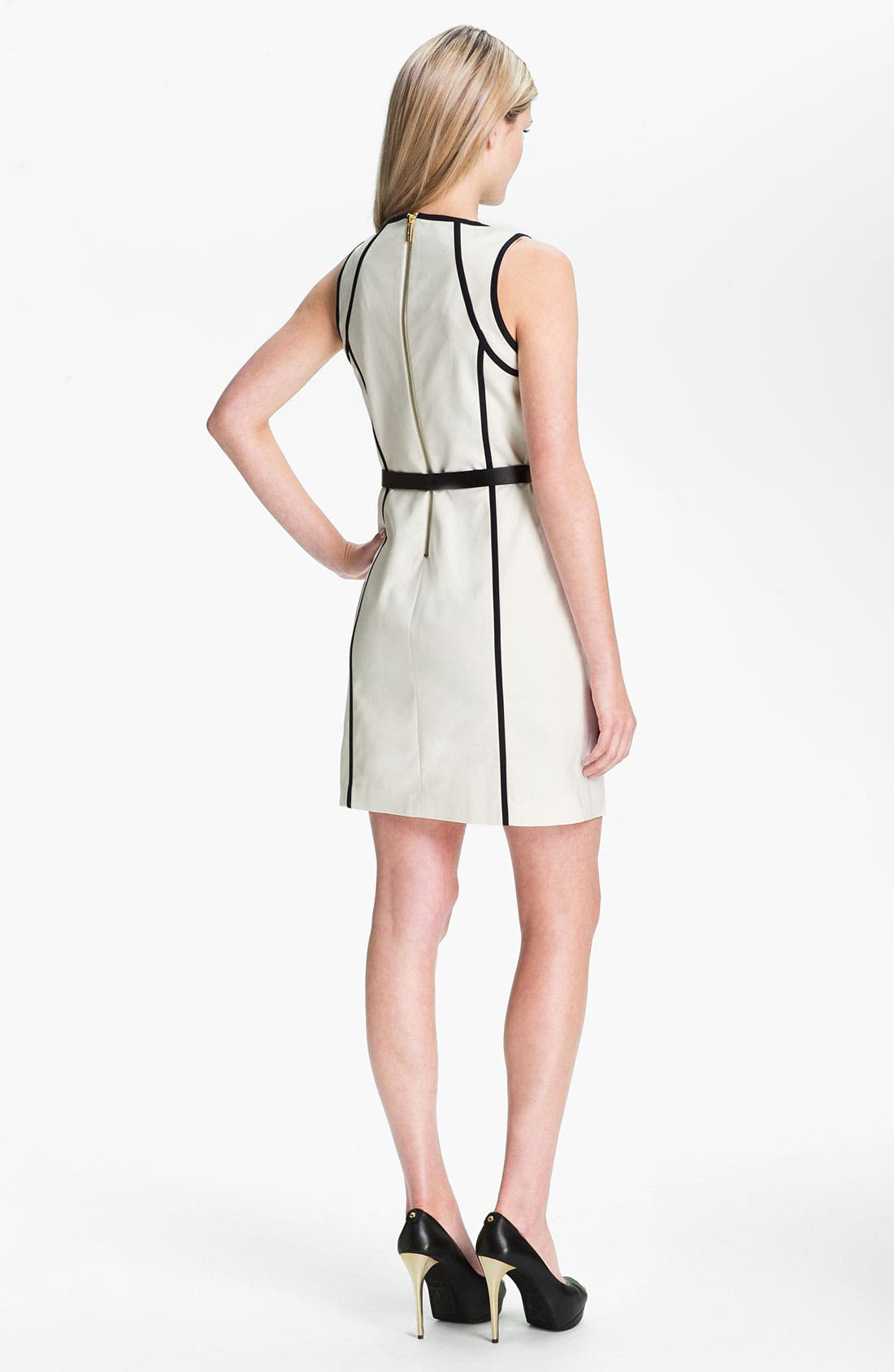 Alternate Image 2  - MICHAEL Michael Kors Sleeveless Scuba Dress (Petite)