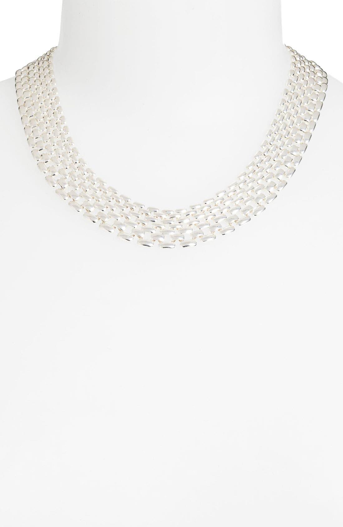 Alternate Image 2  - Anne Klein Lattice Link Collar Necklace
