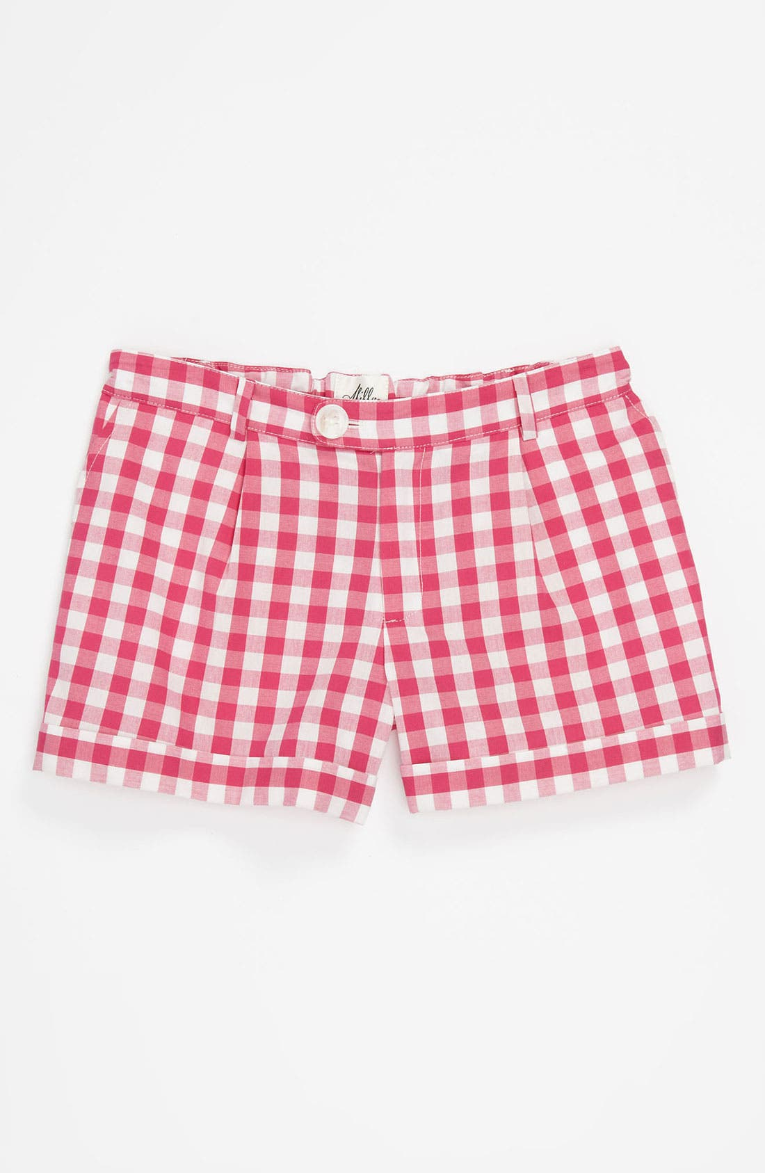 Main Image - Milly Minis Vichy Check Bow Pocket Shorts (Little Girls & Big Girls)