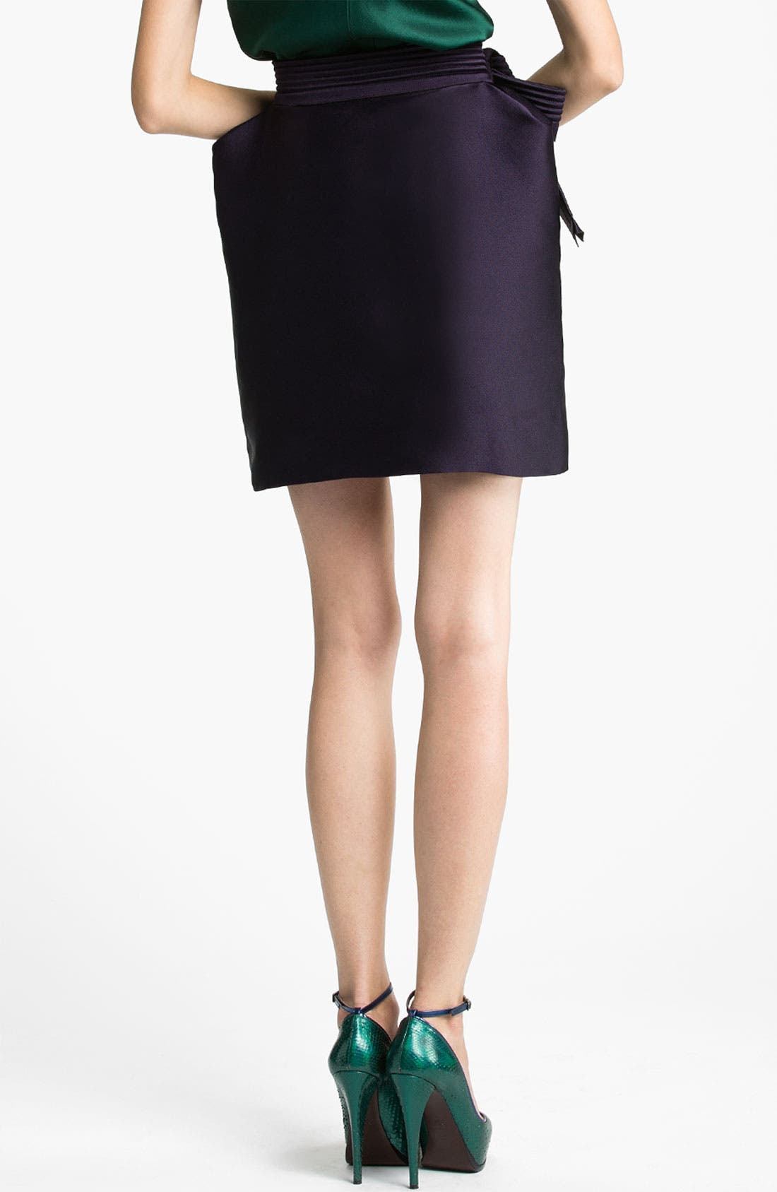 Alternate Image 2  - Lanvin Bow Detail Techno Skirt