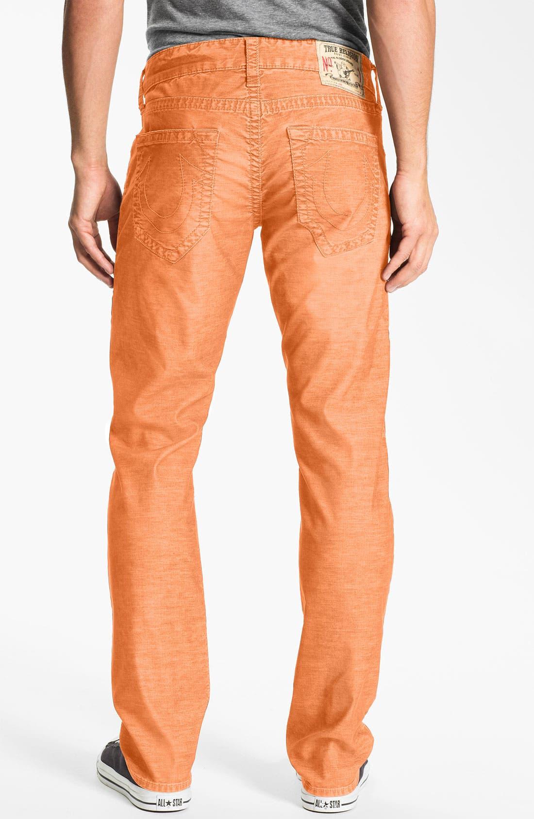 Alternate Image 1 Selected - True Religion Brand Jeans 'Geno' Slim Corduroy Pants (Online Only)
