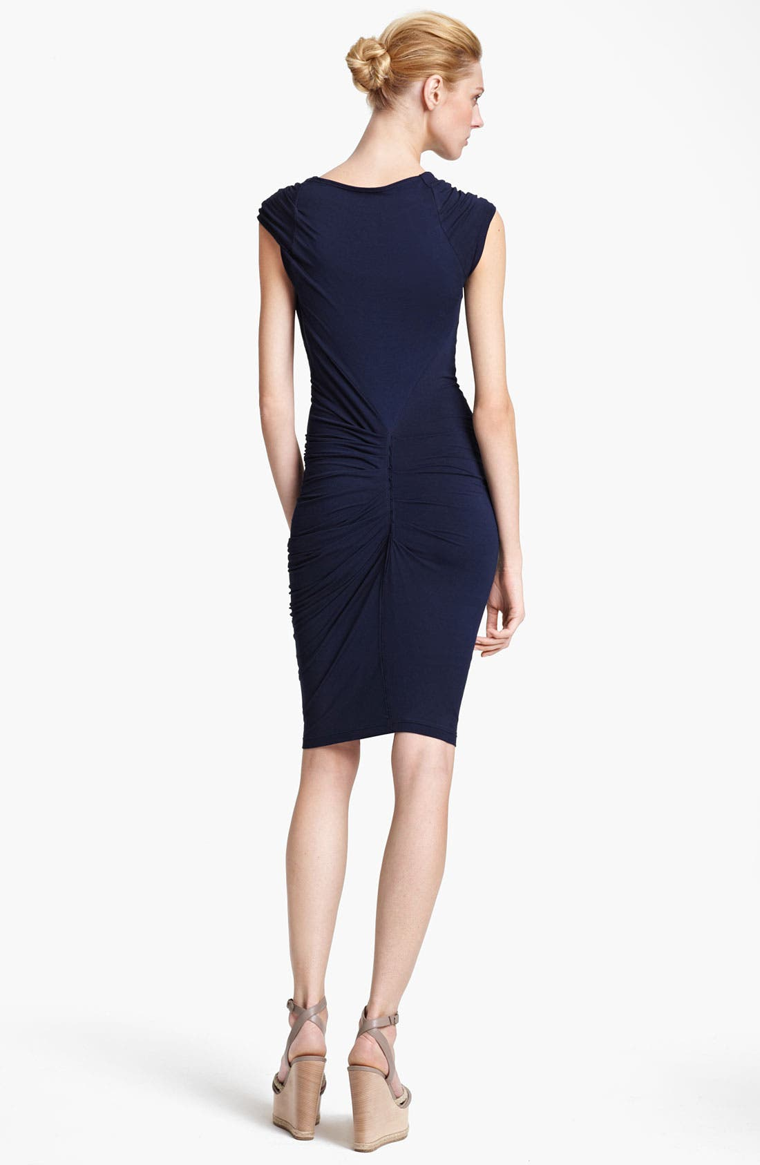 Alternate Image 2  - Donna Karan Collection Cowl Neck Mélangé Jersey Dress