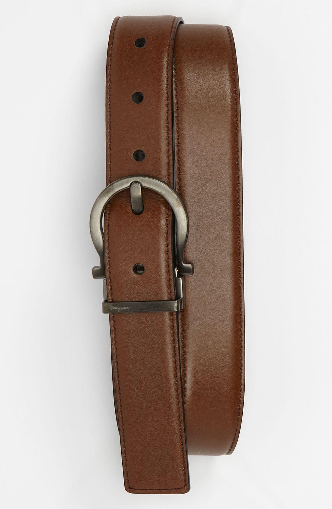 Alternate Image 1 Selected - Salvatore Ferragamo Leather Belt