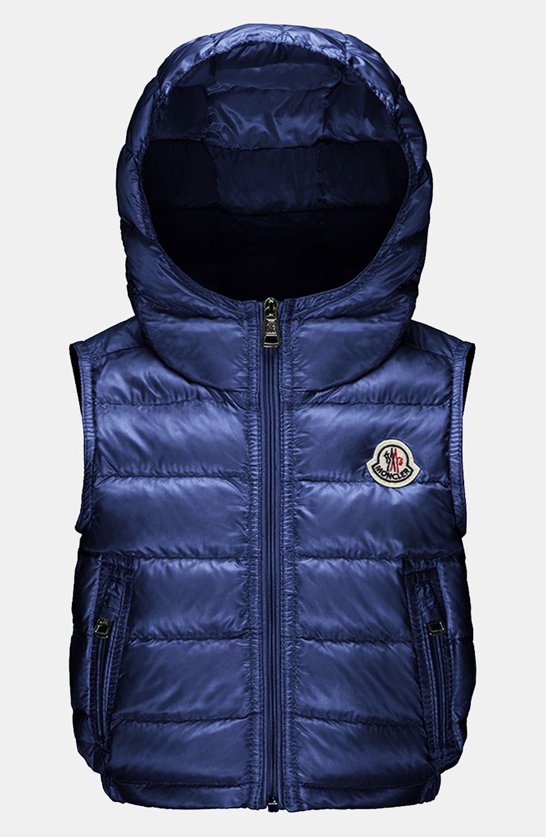 Main Image - Moncler 'Patrick' Hooded Vest (Baby)