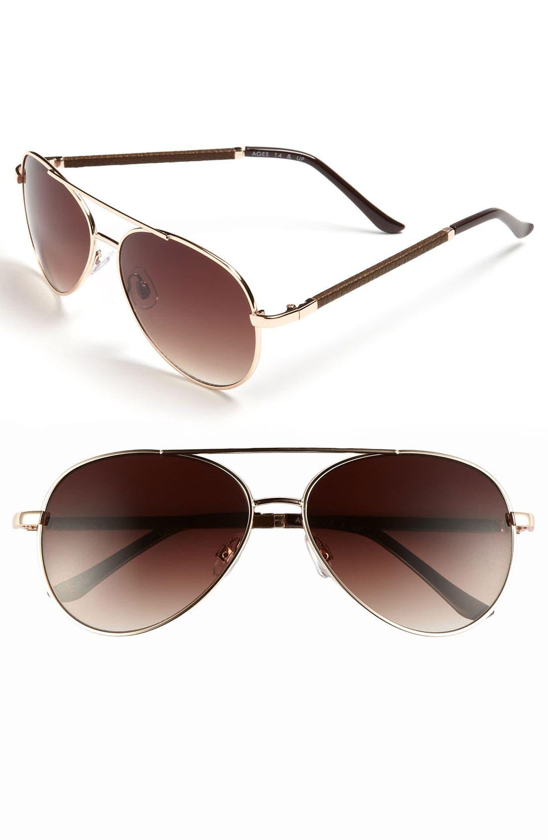 Main Image - FE NY 56mm Aviator Sunglasses