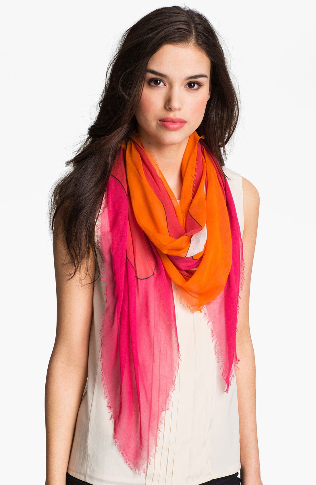Alternate Image 1 Selected - Jonathan Adler 'Retro Floral' Oversized Scarf