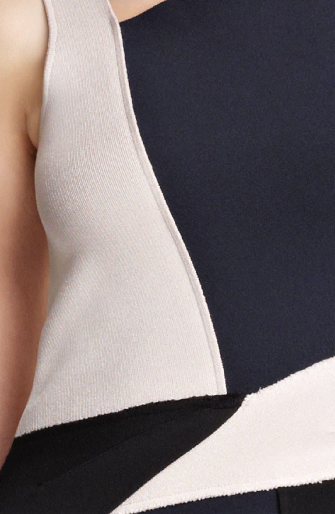 Alternate Image 3  - Oscar de la Renta Colorblock Knit Dress