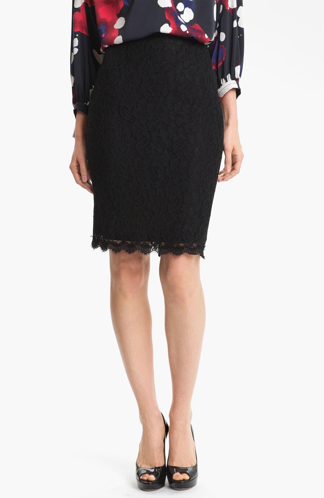 Alternate Image 1 Selected - Diane von Furstenberg 'Scotia' Lace Skirt