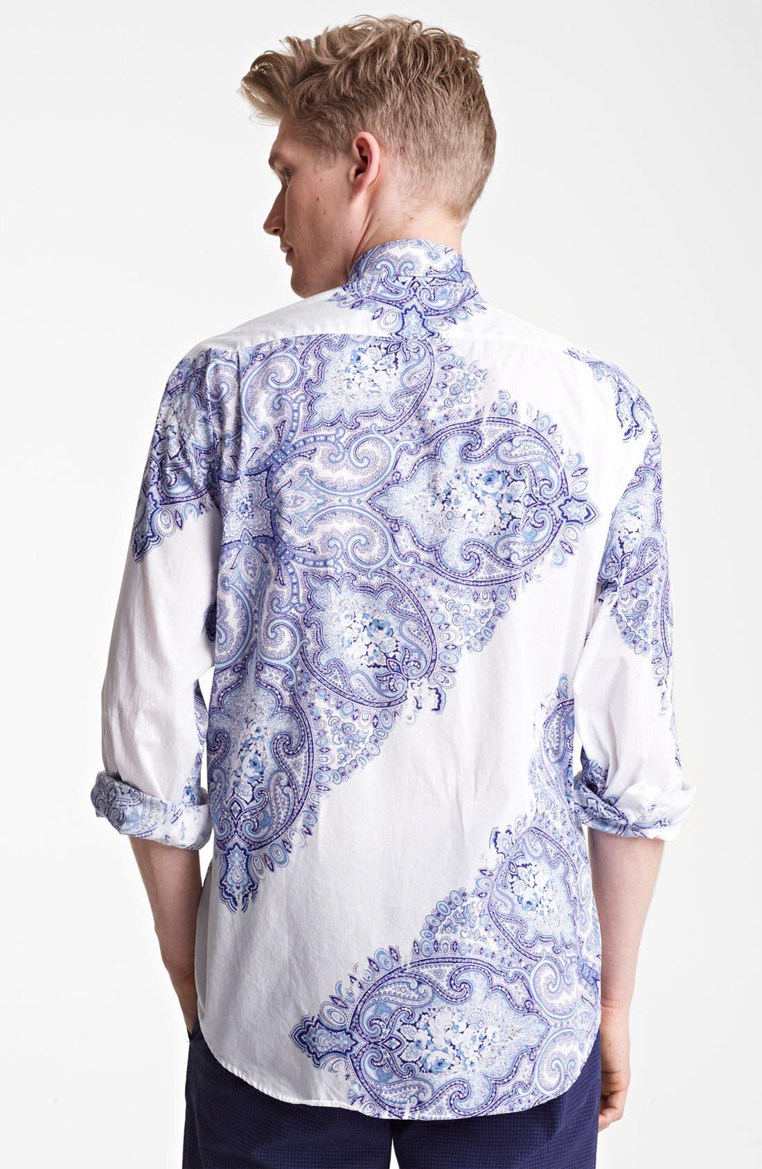 Alternate Image 2  - Mason's Paisley Print Woven Shirt