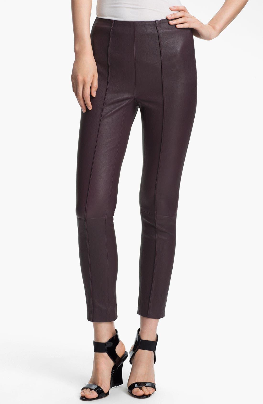 Alternate Image 1 Selected - Twenty8Twelve 'Isiadore' Stretch Leather Pants