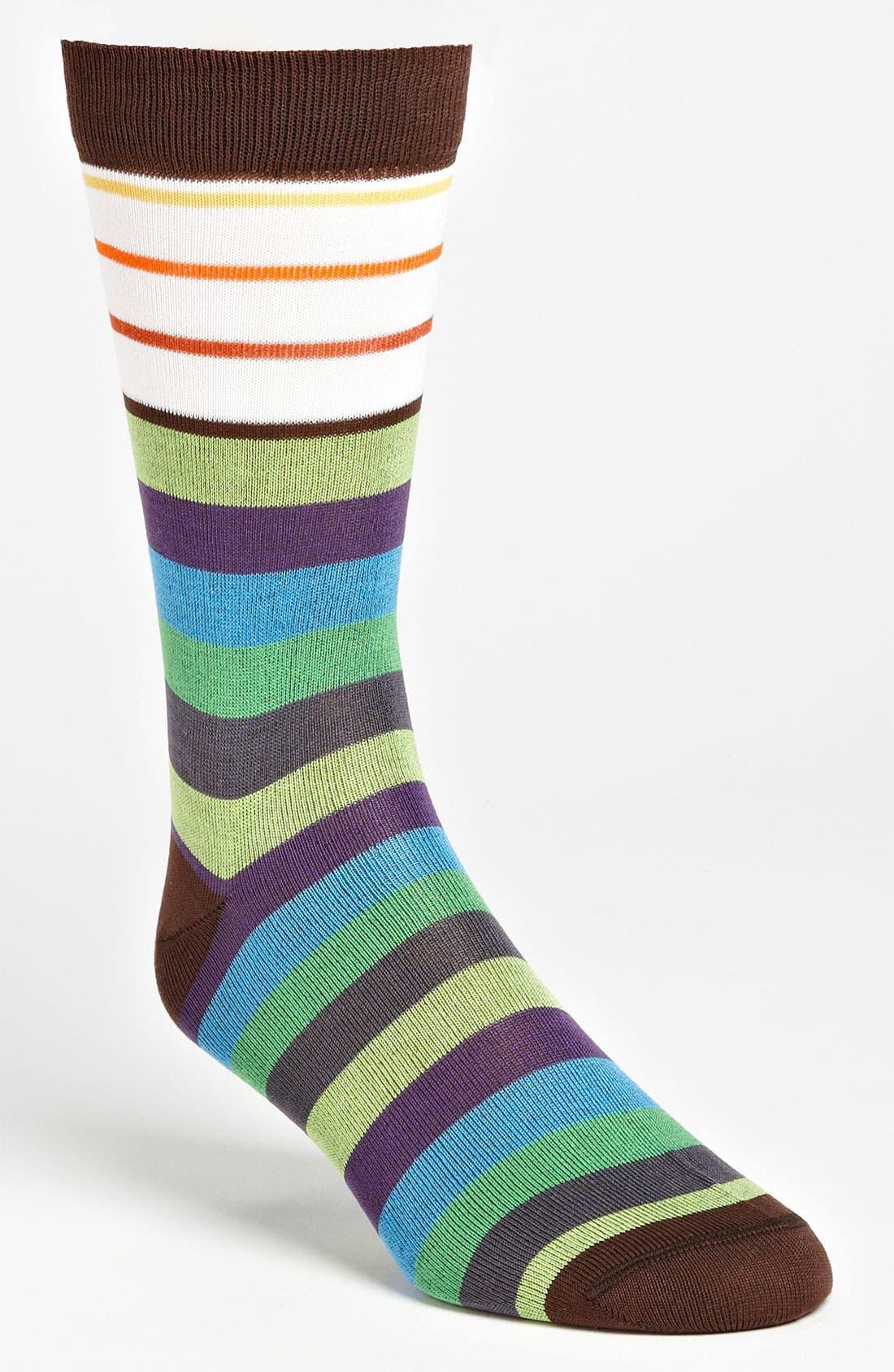 Alternate Image 1 Selected - Etro Multi Stripe Socks