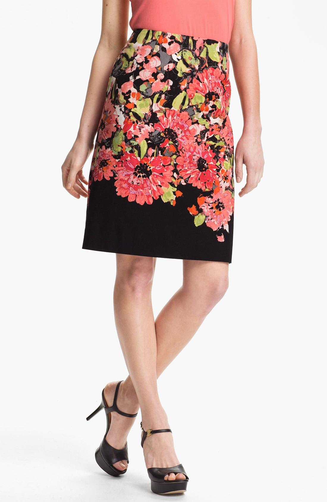 Alternate Image 1 Selected - Nic + Zoe Floral Print Pencil Skirt