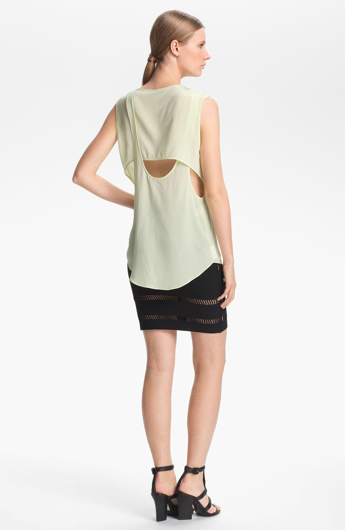 Alternate Image 4  - Alexander Wang Overlapping Crêpe de Chine Tank