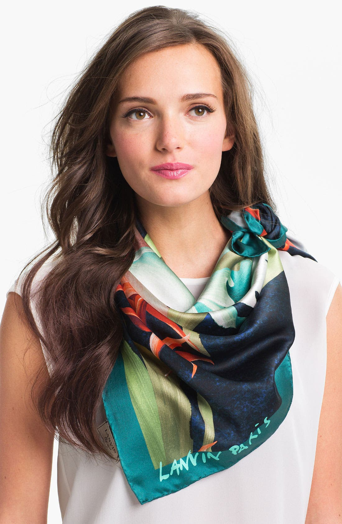 Alternate Image 1 Selected - Lanvin Floral Silk Scarf