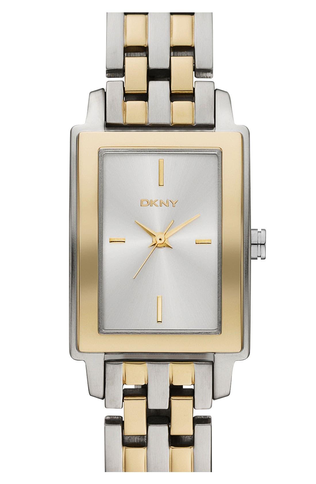 Alternate Image 1 Selected - DKNY Rectangular Bracelet Watch, 23mm x 28mm