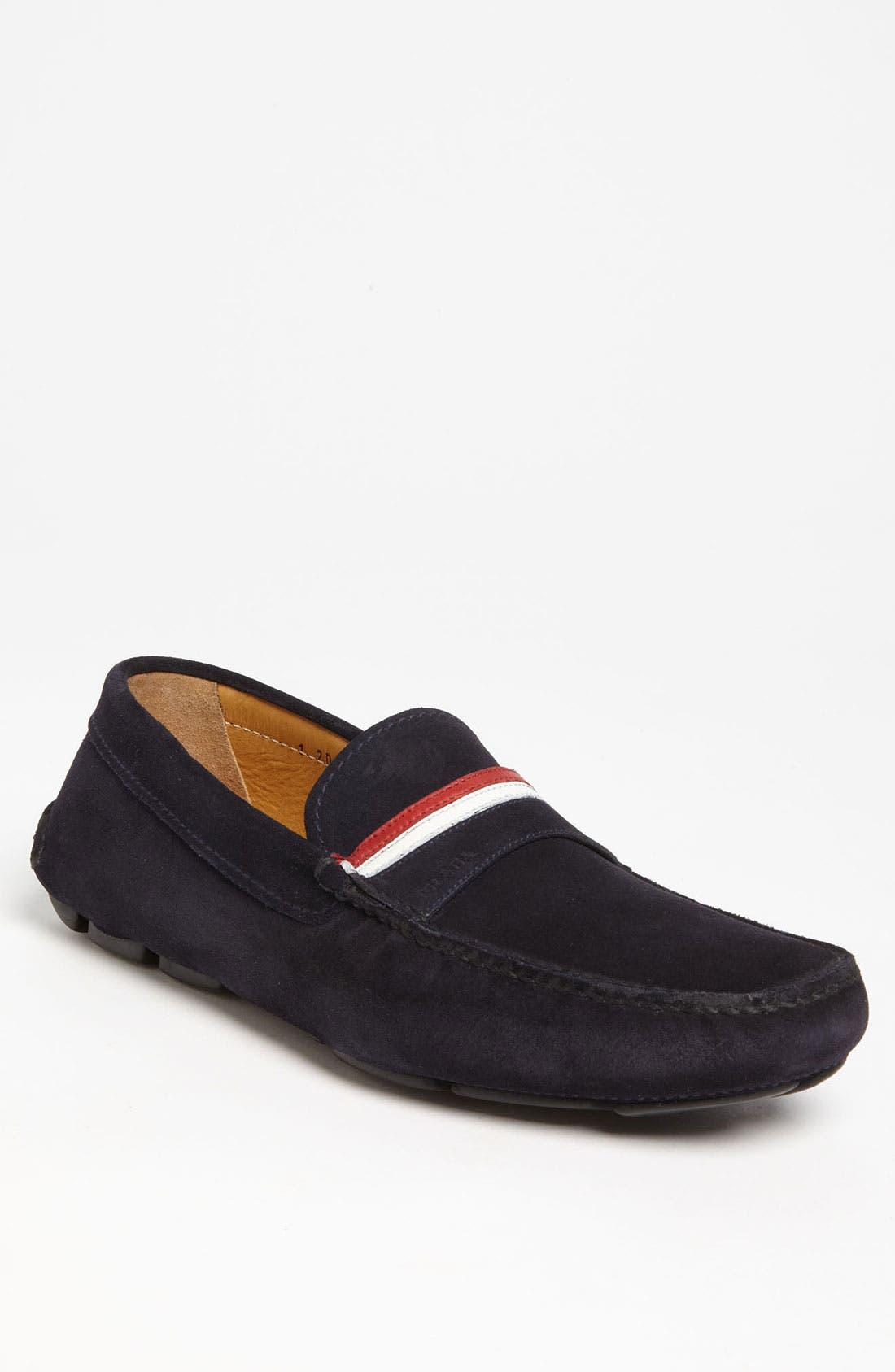 Alternate Image 1 Selected - Prada Suede Driving Shoe
