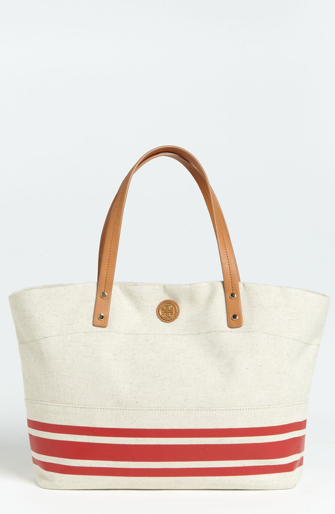 'Erin' Tote,                             Main thumbnail 1, color,                             Lobster Stripe