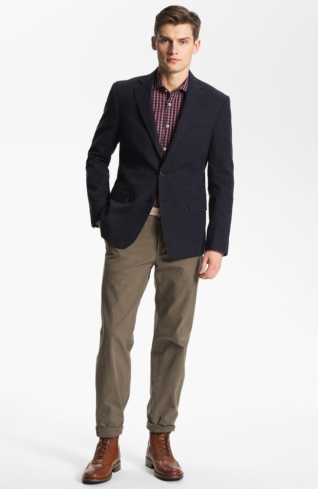 Alternate Image 4  - Billy Reid 'Lexington' Cotton & Linen Blazer