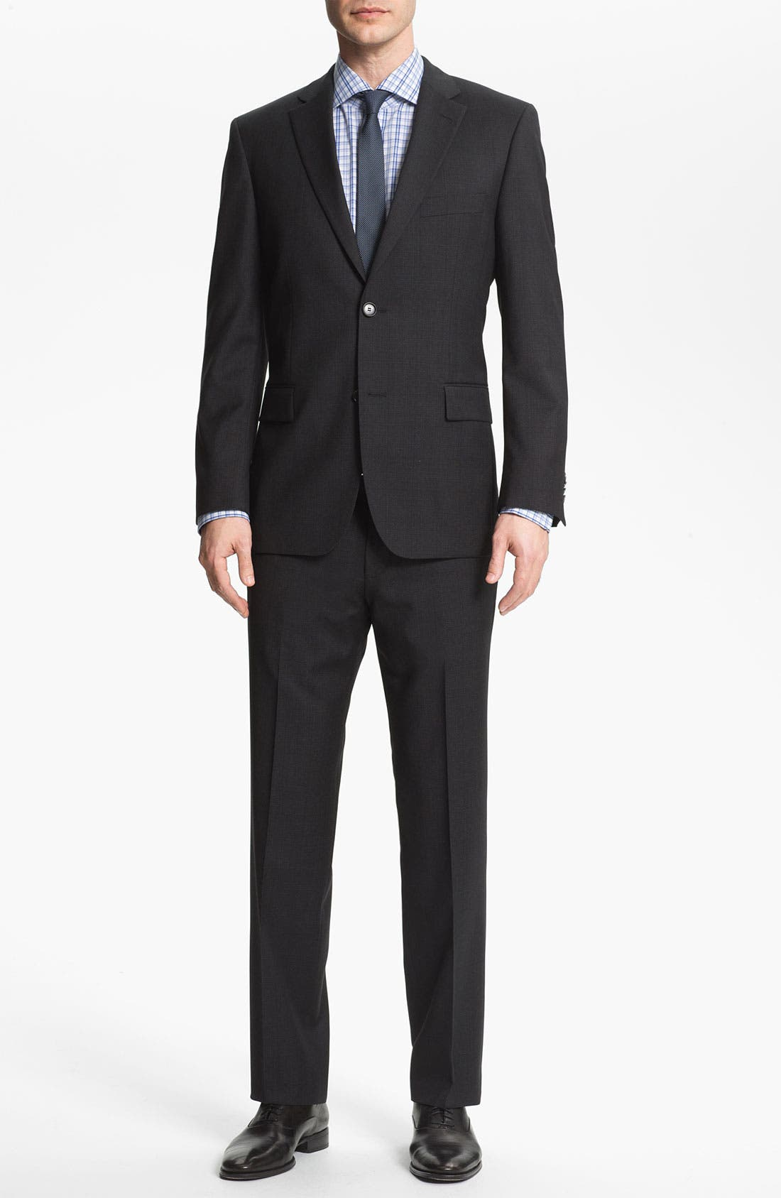 Alternate Image 2  - BOSS Black 'Pasini/Movie' Plaid Wool Suit