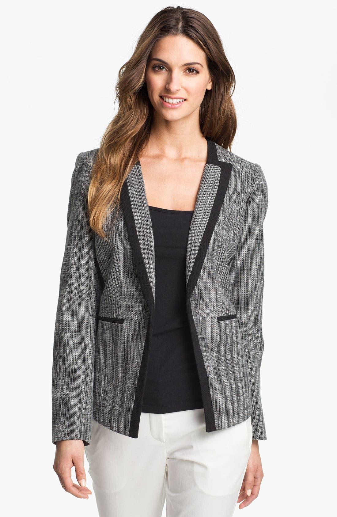 Alternate Image 1 Selected - Calvin Klein Open Front Woven Jacket