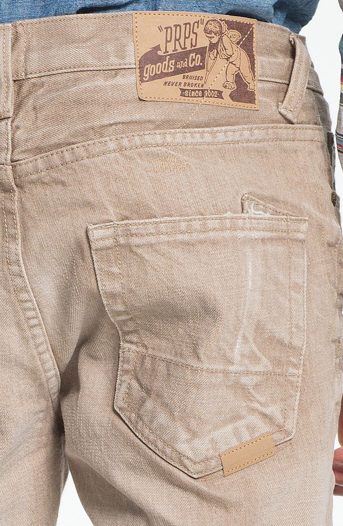Alternate Image 4  - PRPS 'Vesta Rambler' Slim Fit Jeans (Beige)