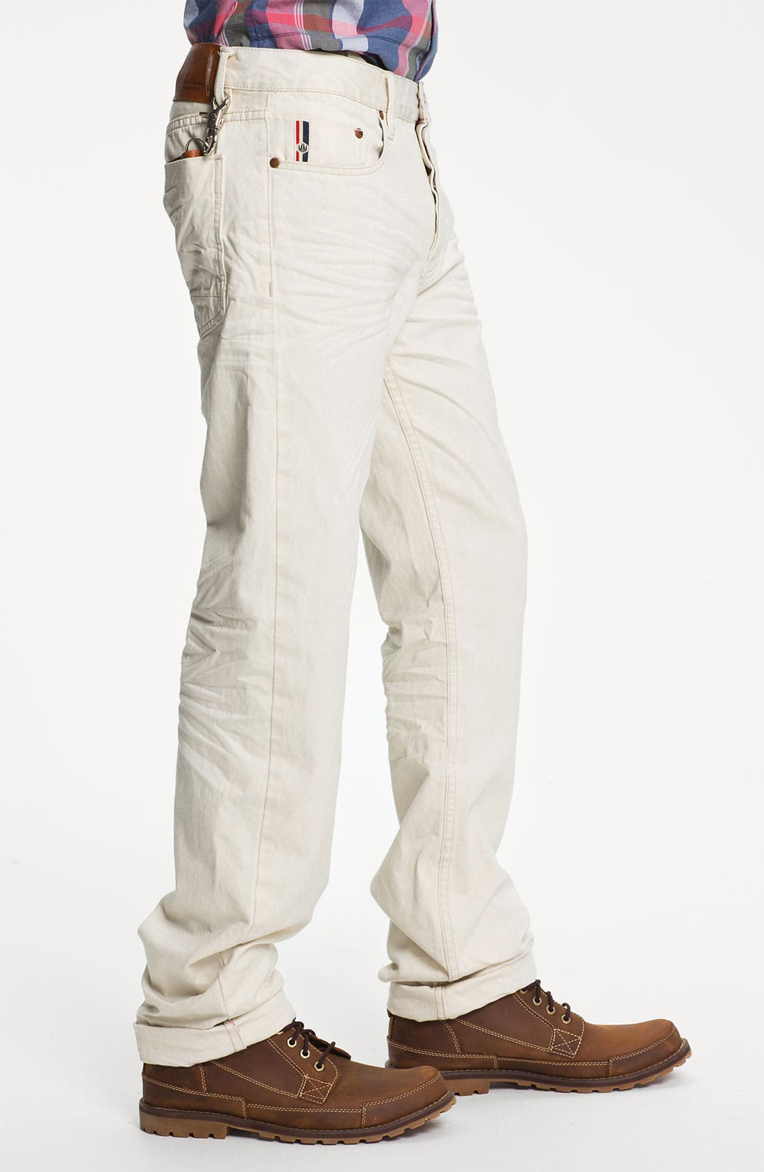 Alternate Image 3  - Denim & Leathers by Andrew Marc Straight Leg Jeans (White)