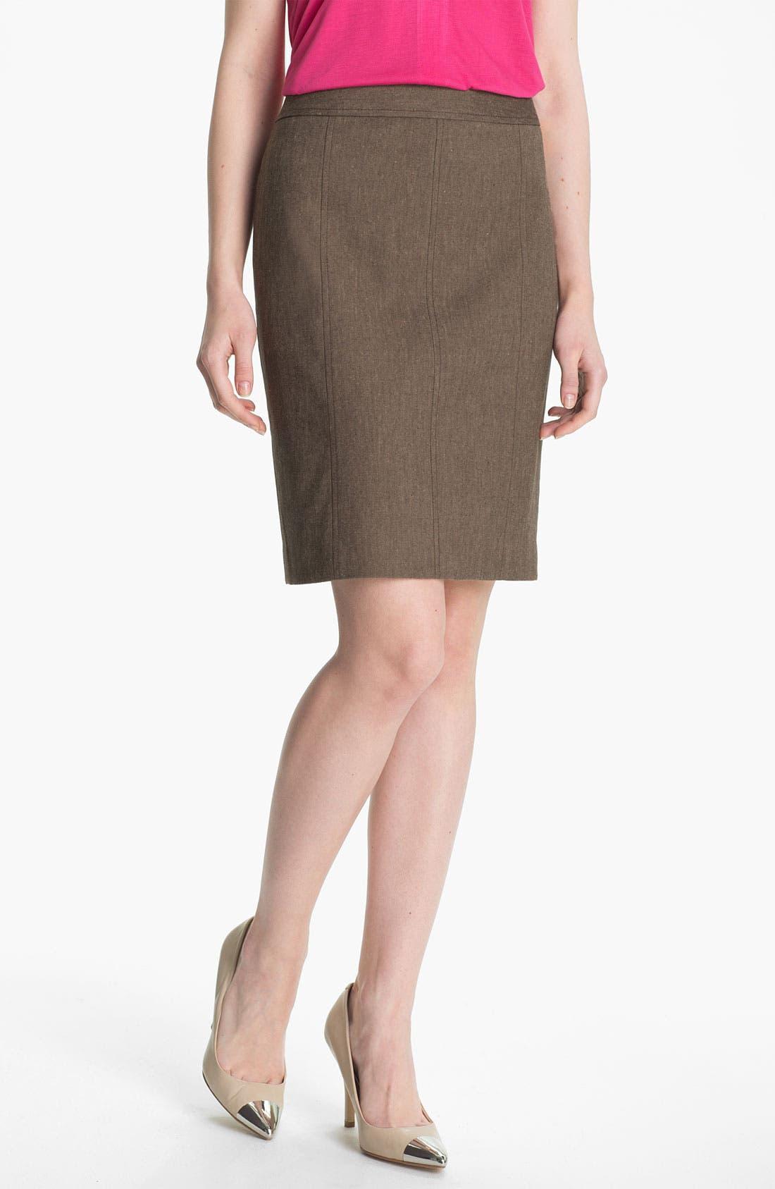 Alternate Image 1 Selected - Halogen® 'Subtle Stretch' Skirt