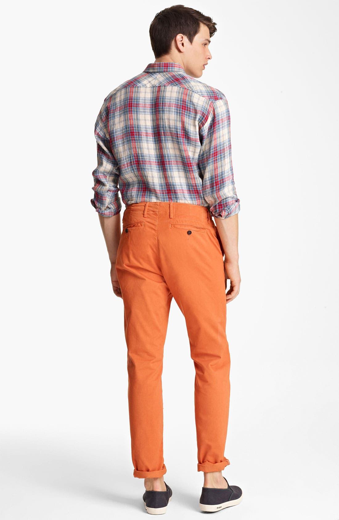 Alternate Image 5  - Billy Reid 'Walland' Plaid Linen Shirt