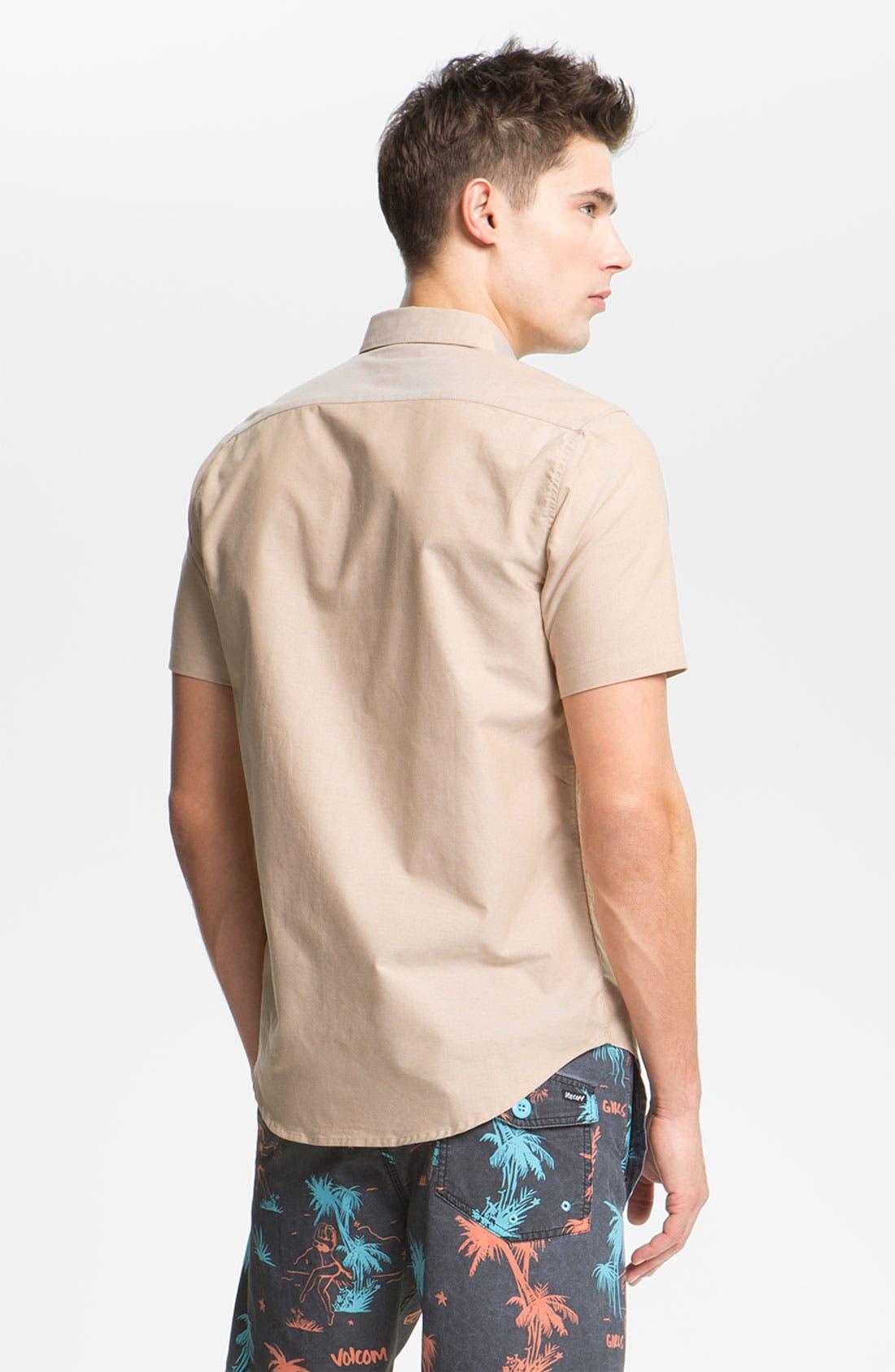 Alternate Image 2  - RVCA 'That'll Do' Short Sleeve Oxford Shirt