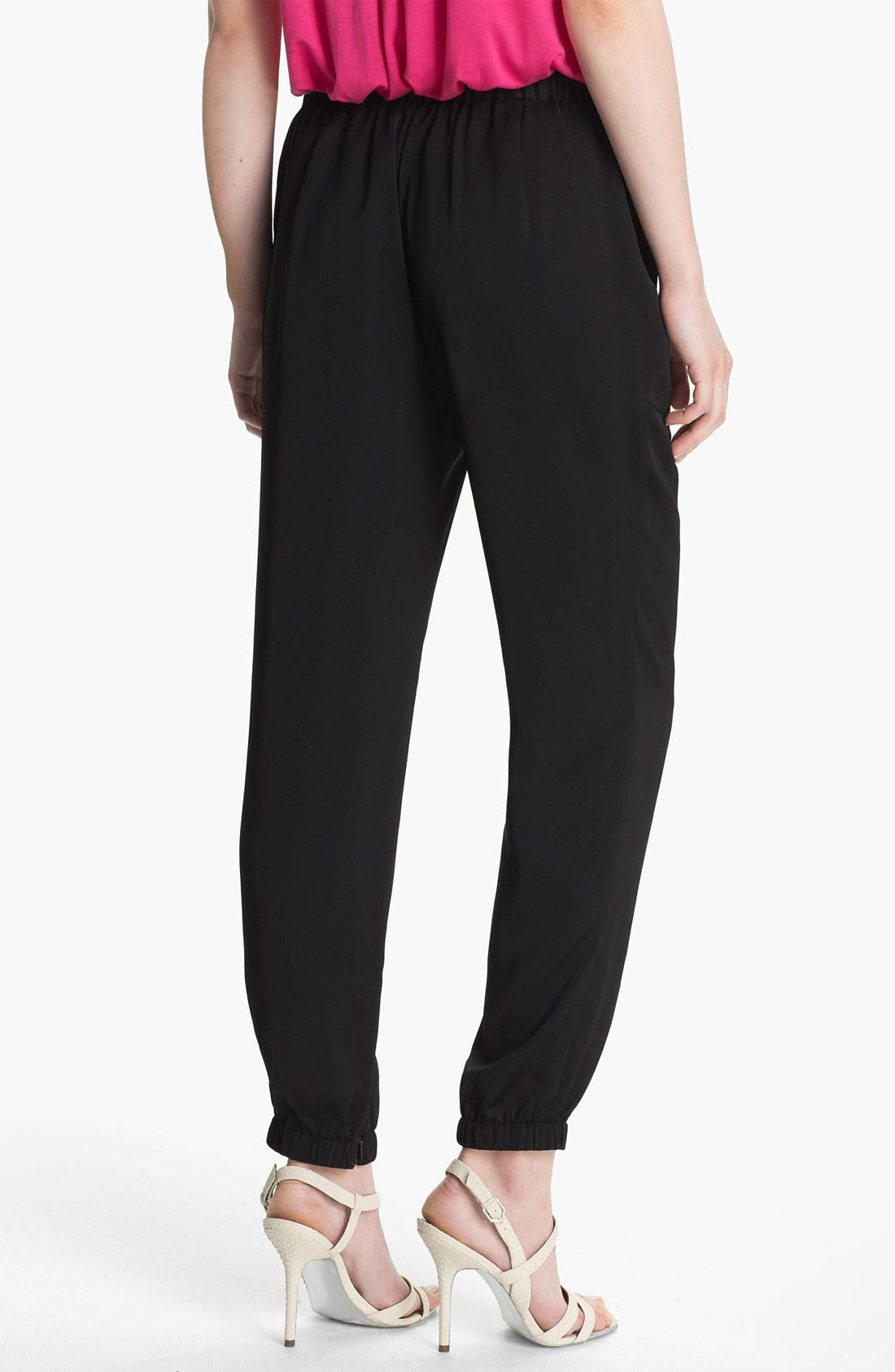Alternate Image 2  - Vince Camuto Pull-On Satin Cargo Pants