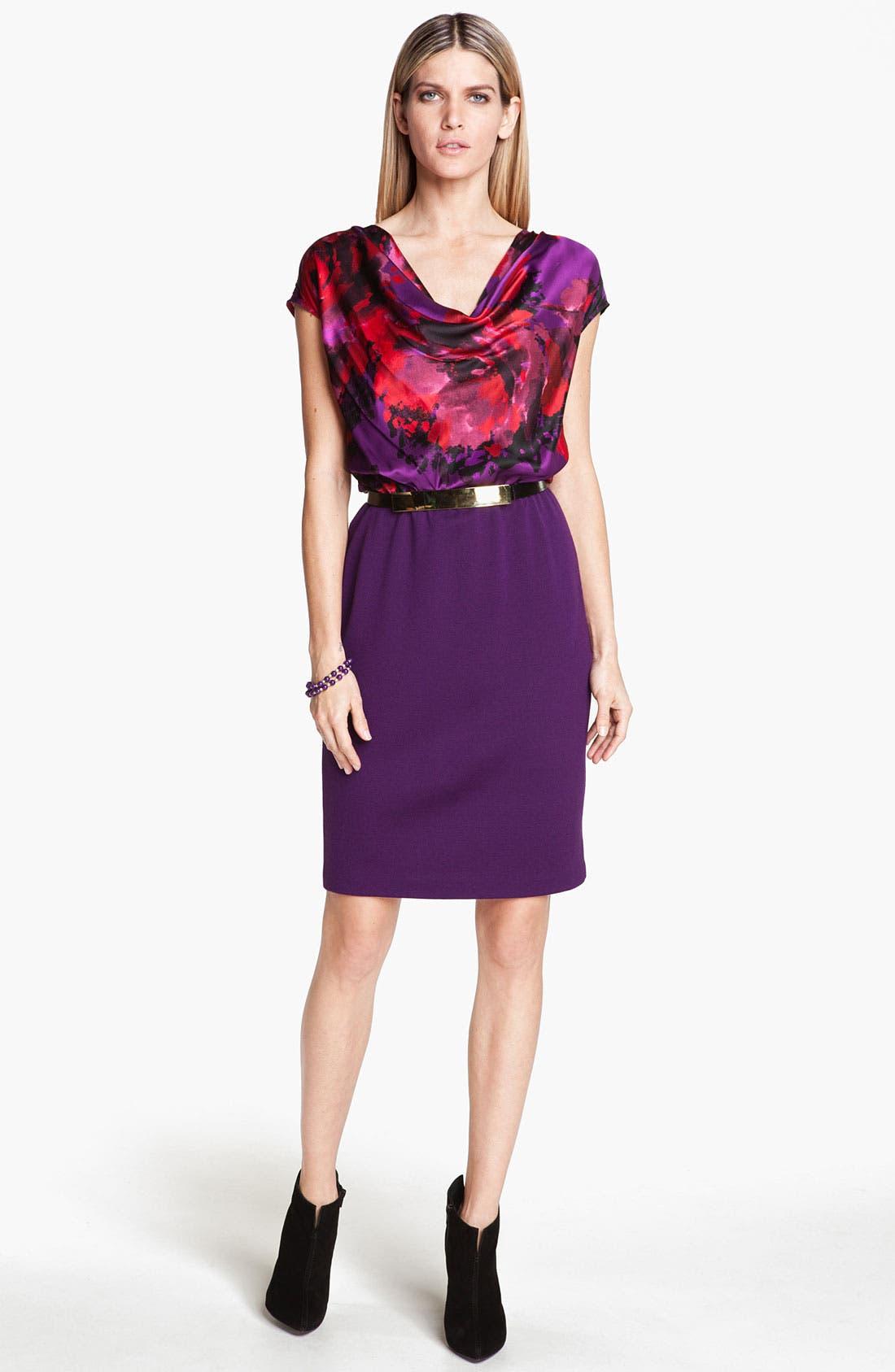 Main Image - St. John Collection Rose Print Dress