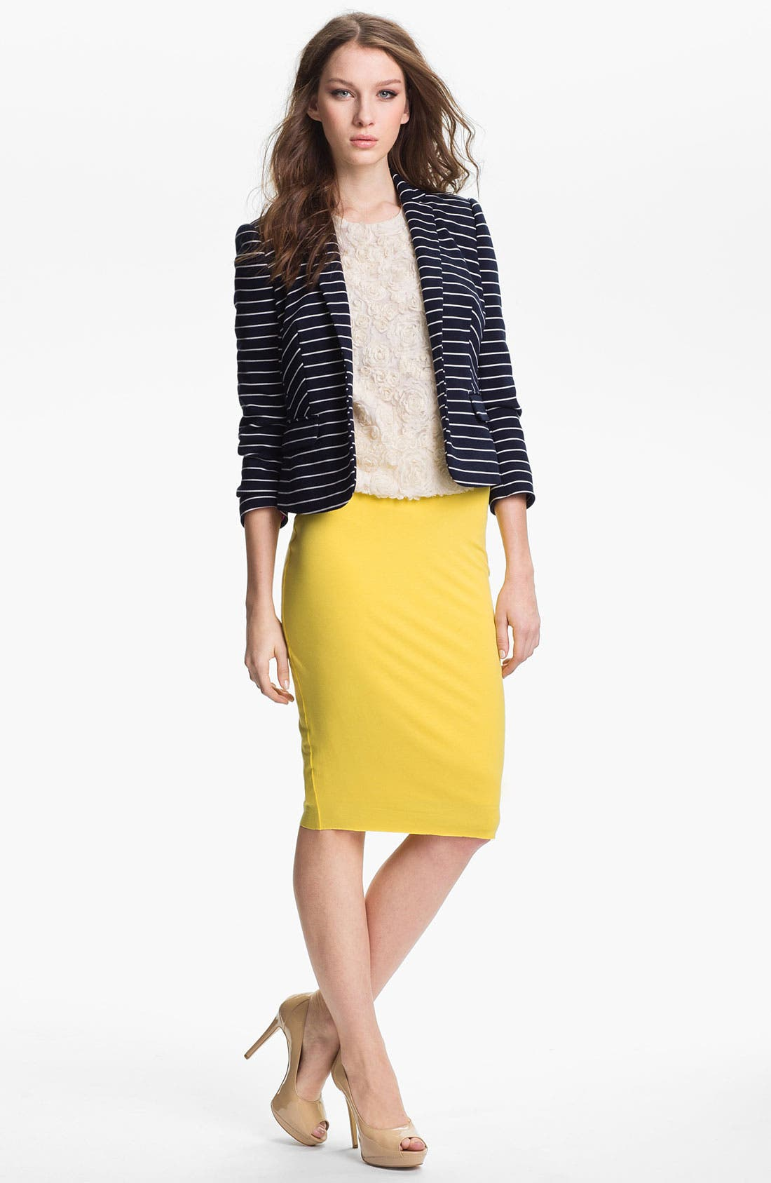 Alternate Image 1 Selected - Vince Camuto Stripe Blazer