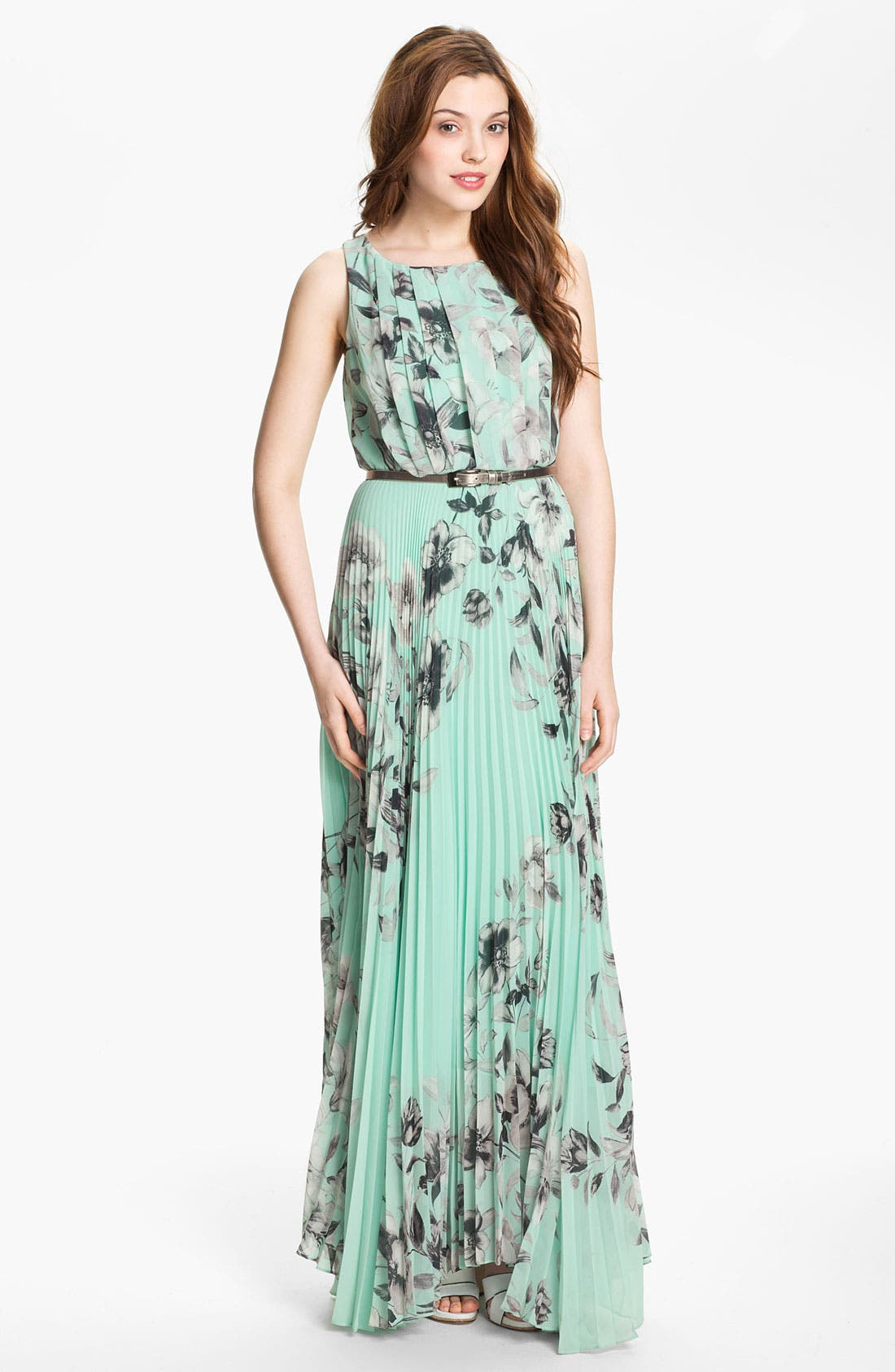 Alternate Image 1 Selected - Eliza J Print Chiffon Maxi Dress