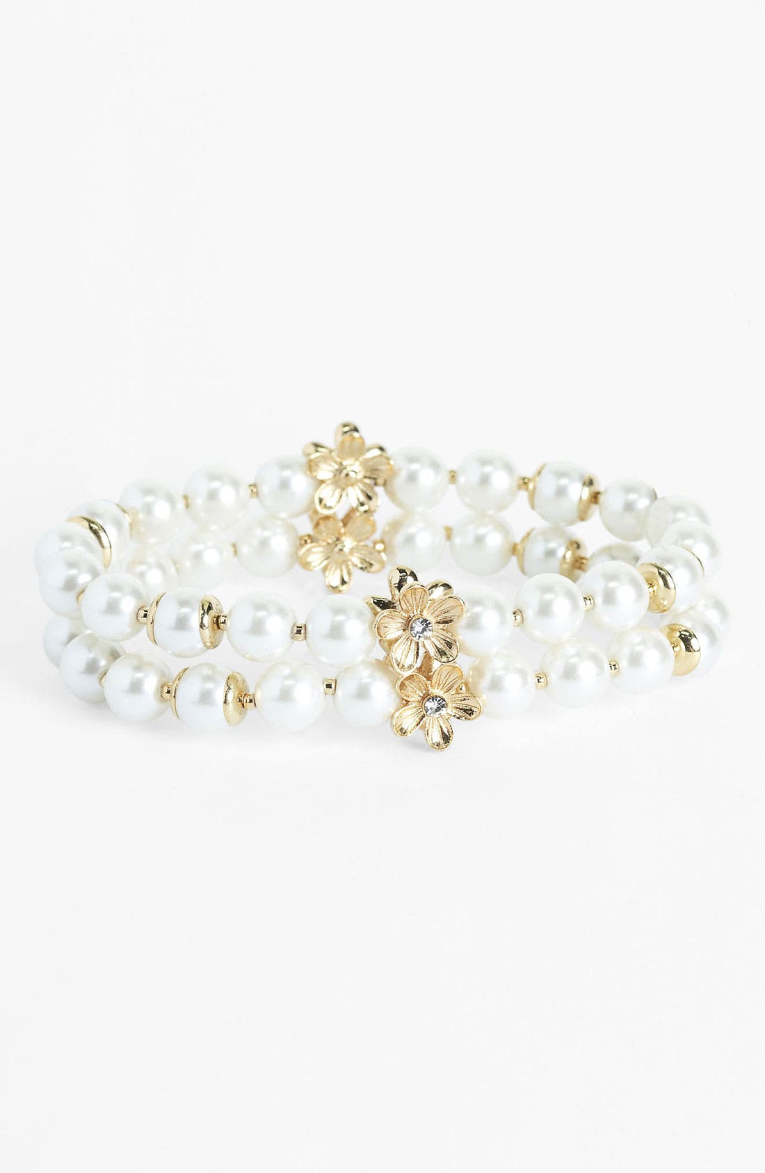 Alternate Image 1 Selected - Anne Klein Double Row Stretch Bracelet