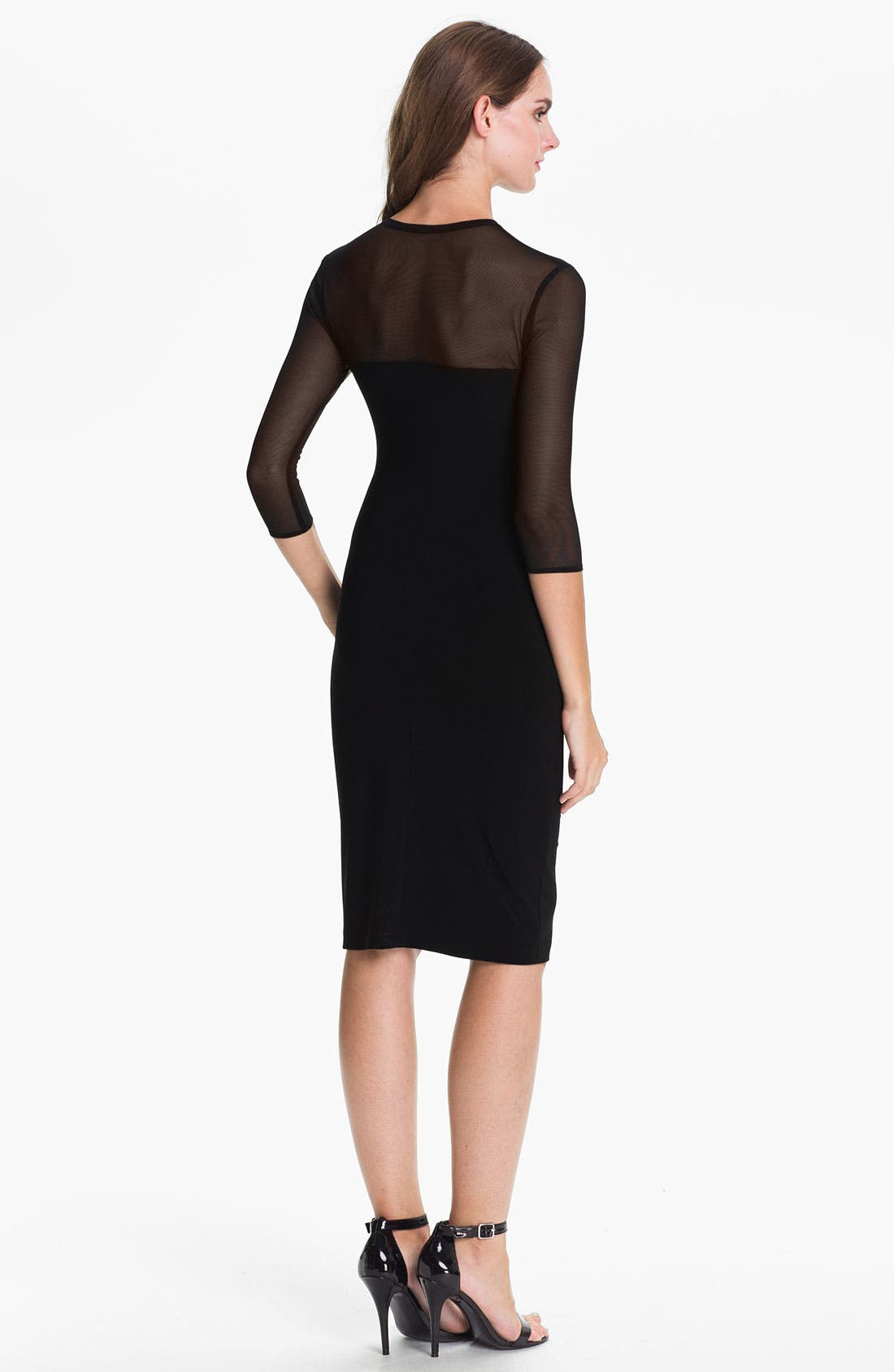 Alternate Image 2  - KAMALIKULTURE Sheer Yoke Sheath Dress