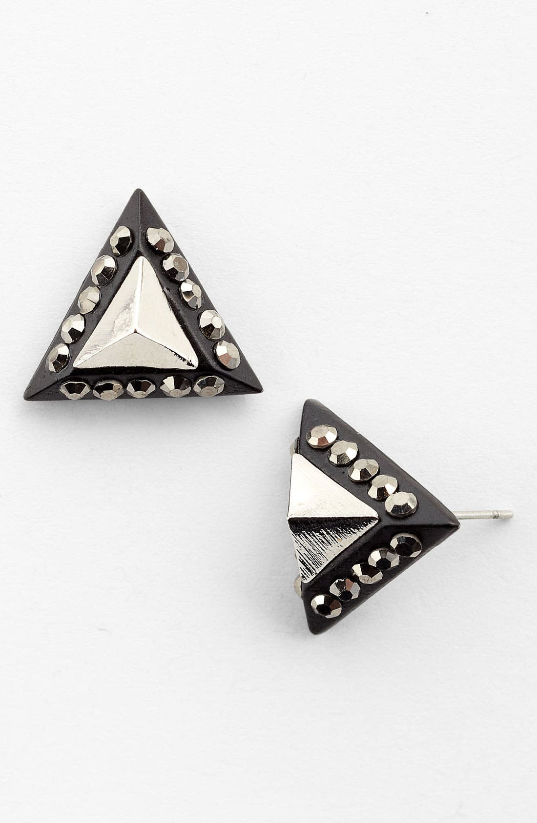 Main Image - Statements by DCK Rhinestone Pyramid Stud Earrings