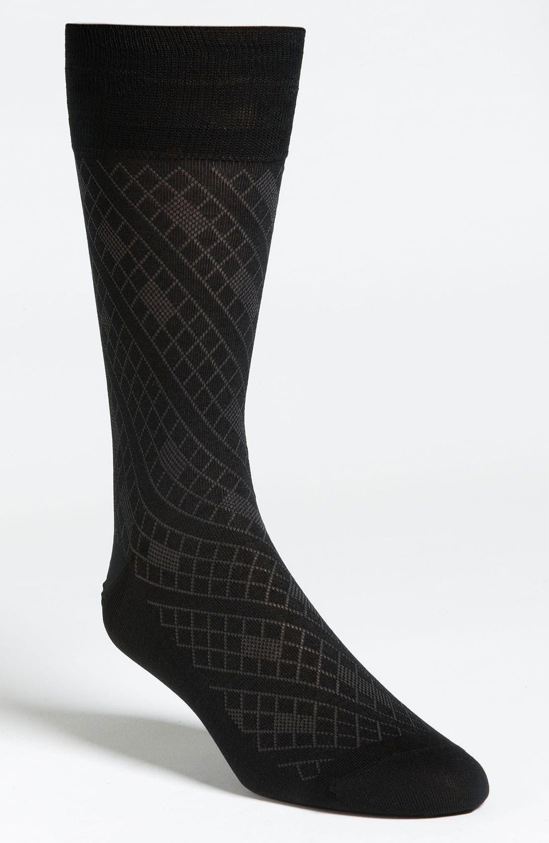 Alternate Image 1 Selected - John W. Nordstrom® Diamond Socks