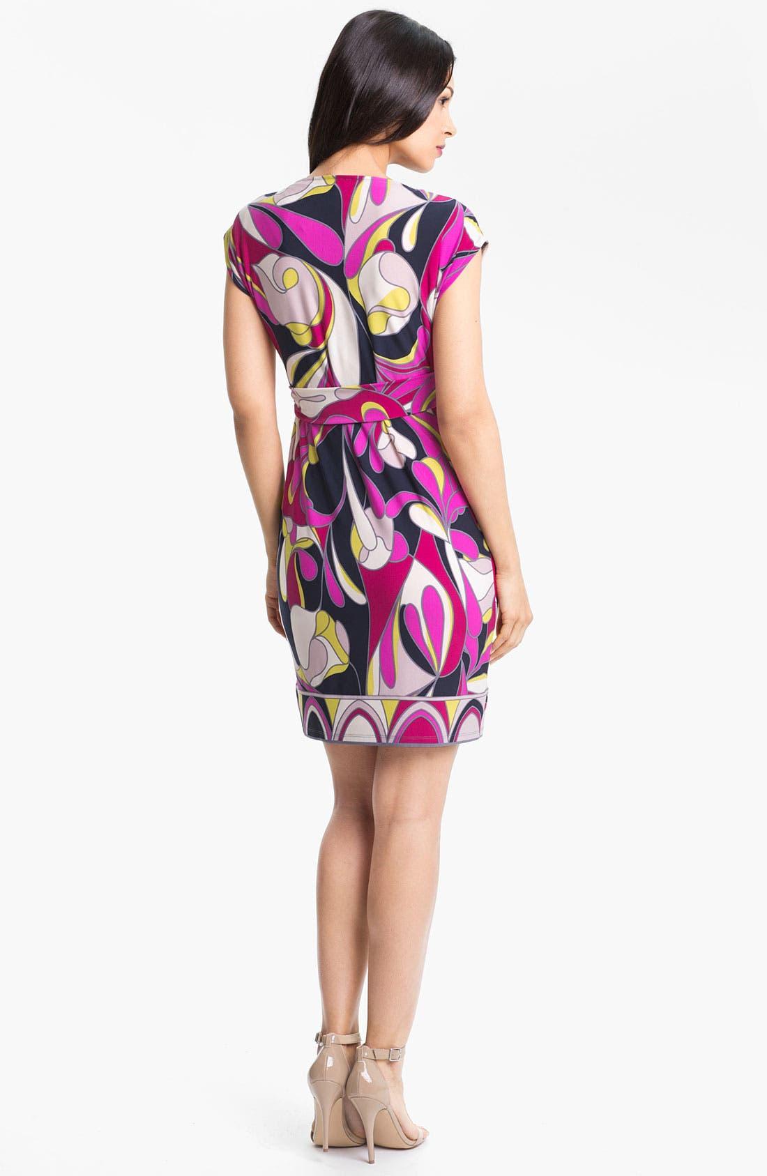Alternate Image 2  - Donna Morgan Cowl Neck Print Jersey Dress