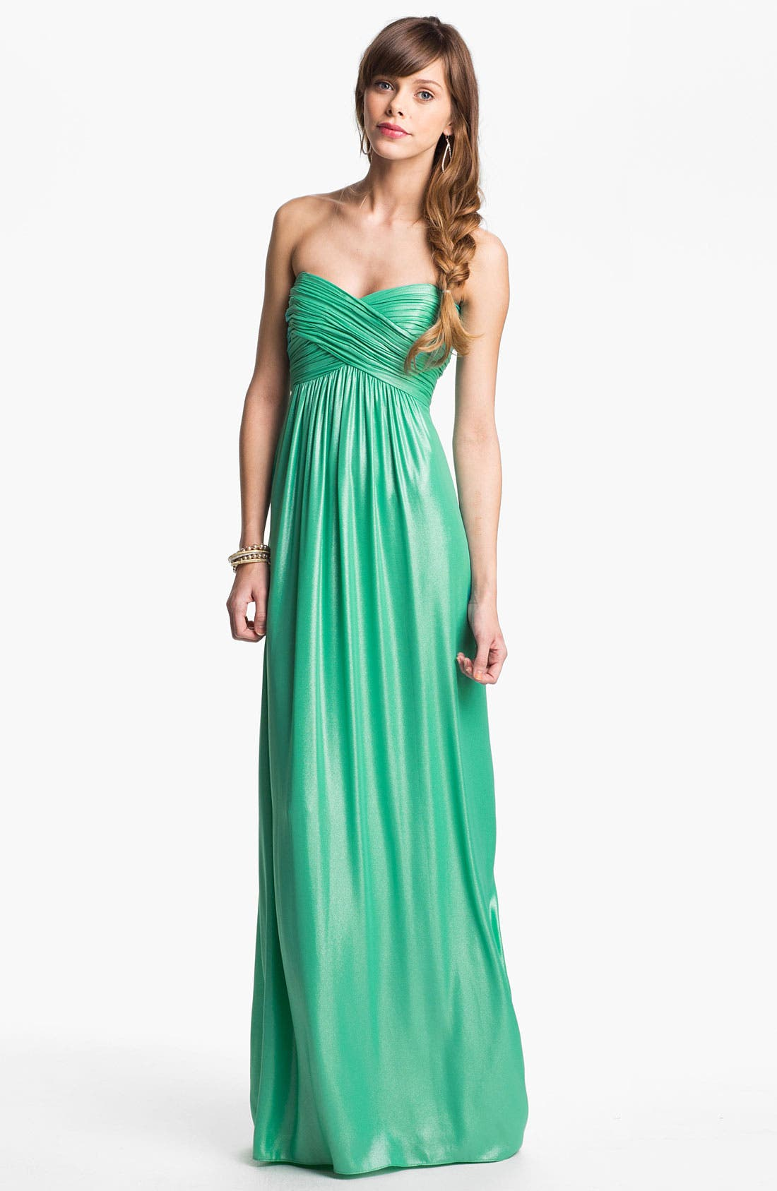 Alternate Image 1 Selected - Laundry by Shelli Segal Shimmer Chiffon Gown