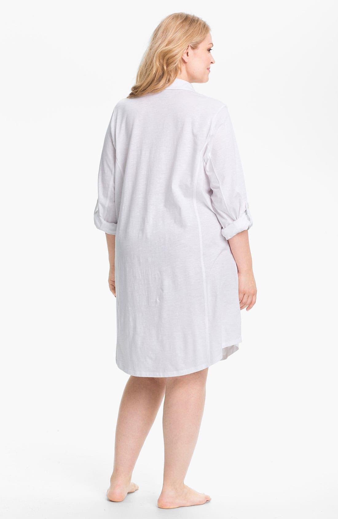 Alternate Image 2  - Lauren Ralph Lauren Sleepwear Knit Nightshirt (Plus)