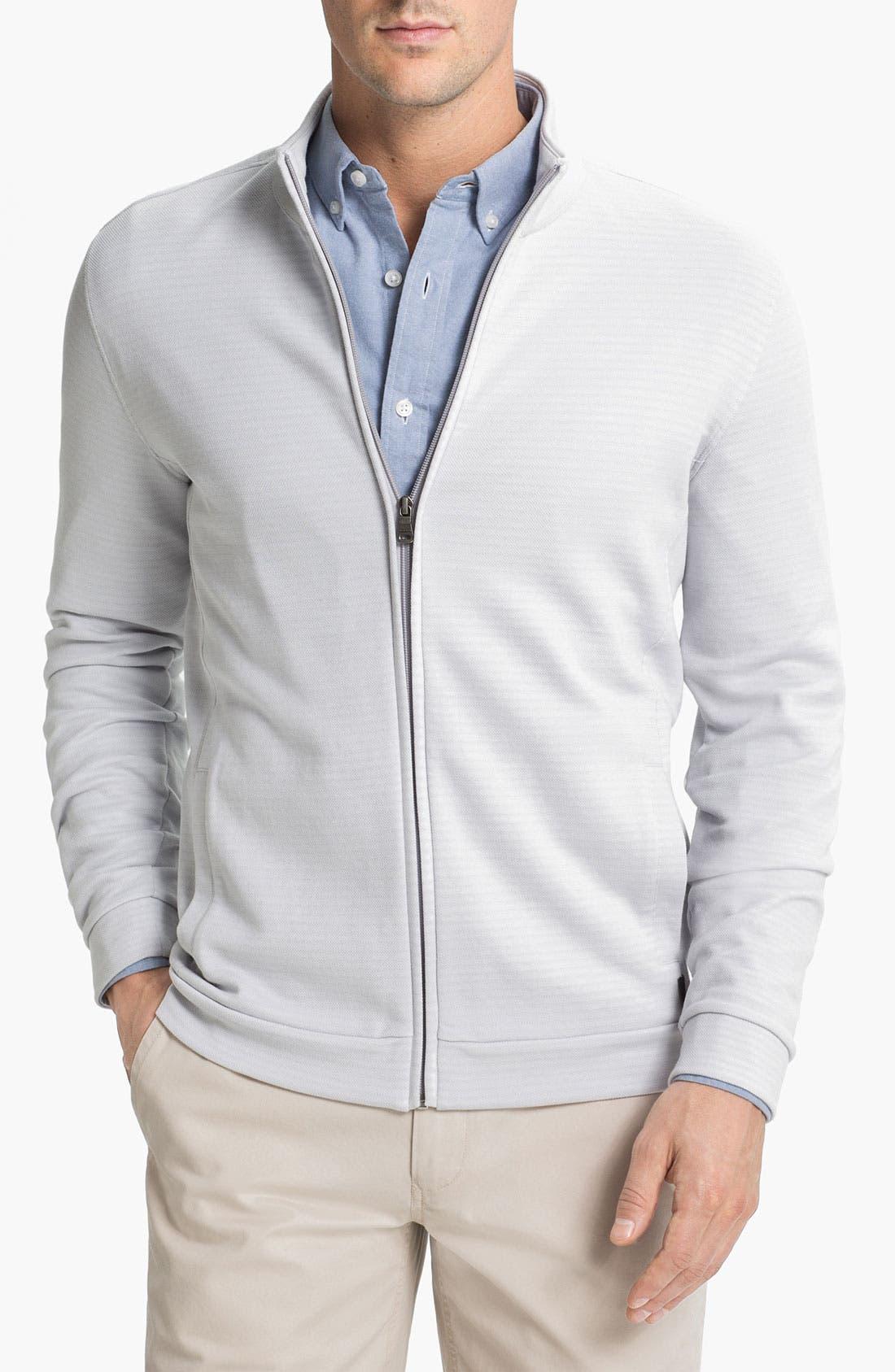 Alternate Image 1 Selected - BOSS Black 'Cannobio' Full Zip Knit Jacket