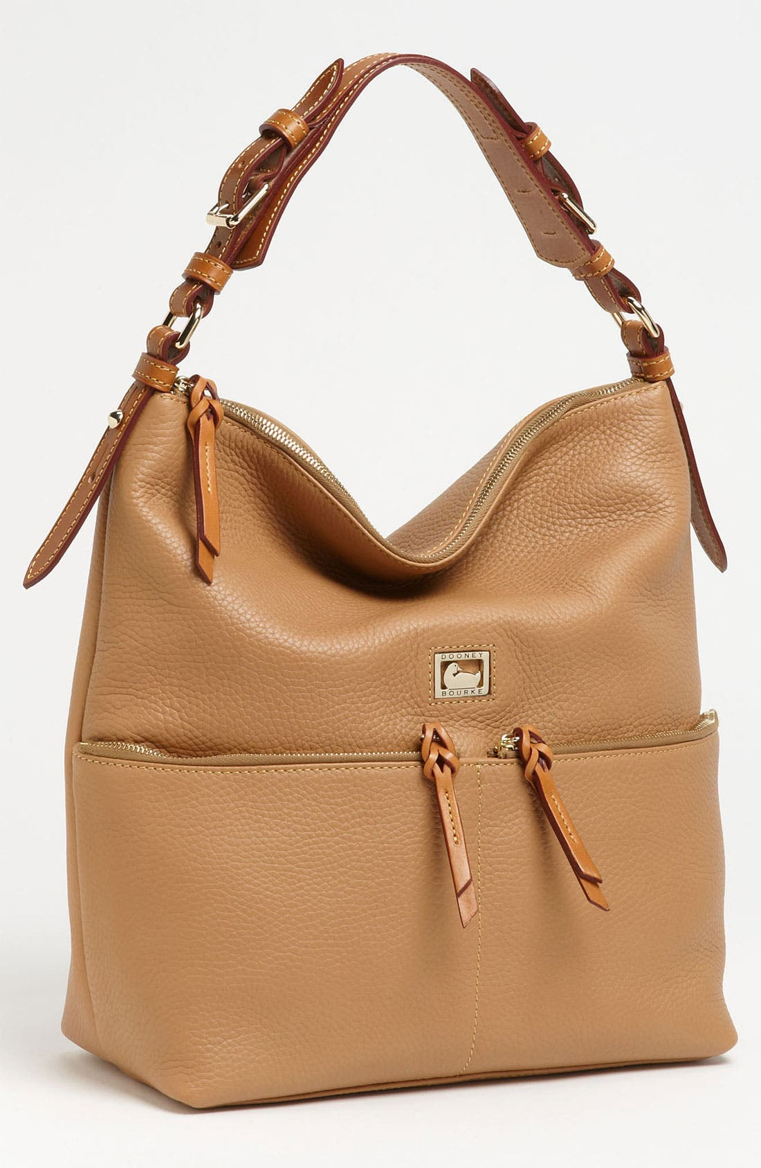 Alternate Image 1 Selected - Dooney & Bourke 'Dillen - Medium' Zip Pocket Leather Hobo