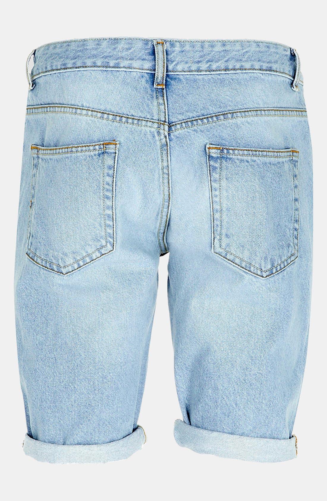 Alternate Image 4  - Topman Skinny Fit Denim Shorts