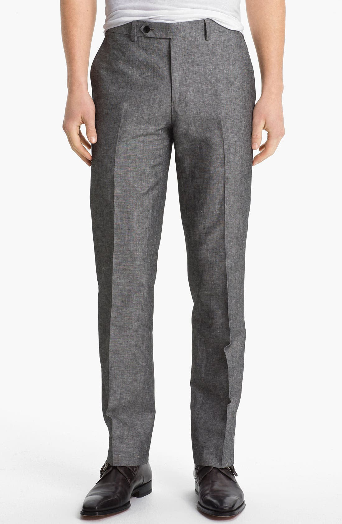 Alternate Image 1 Selected - John Varvatos Star USA Red Label 'Petro' Linen & Cotton Trousers