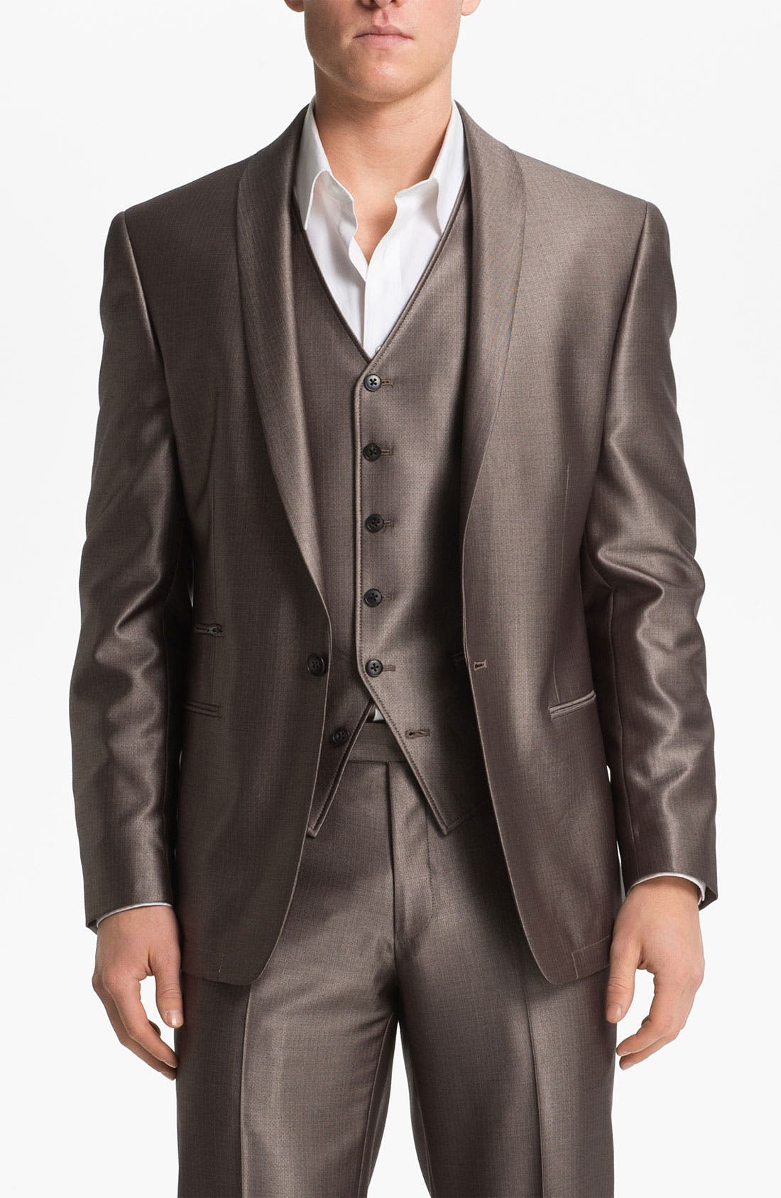Alternate Image 1 Selected - John Varvatos Star USA Red Label One Button Blazer