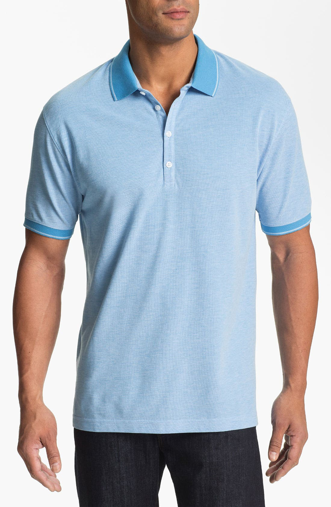 Main Image - Cutter & Buck 'Oxford' Regular Fit Polo (Big & Tall)