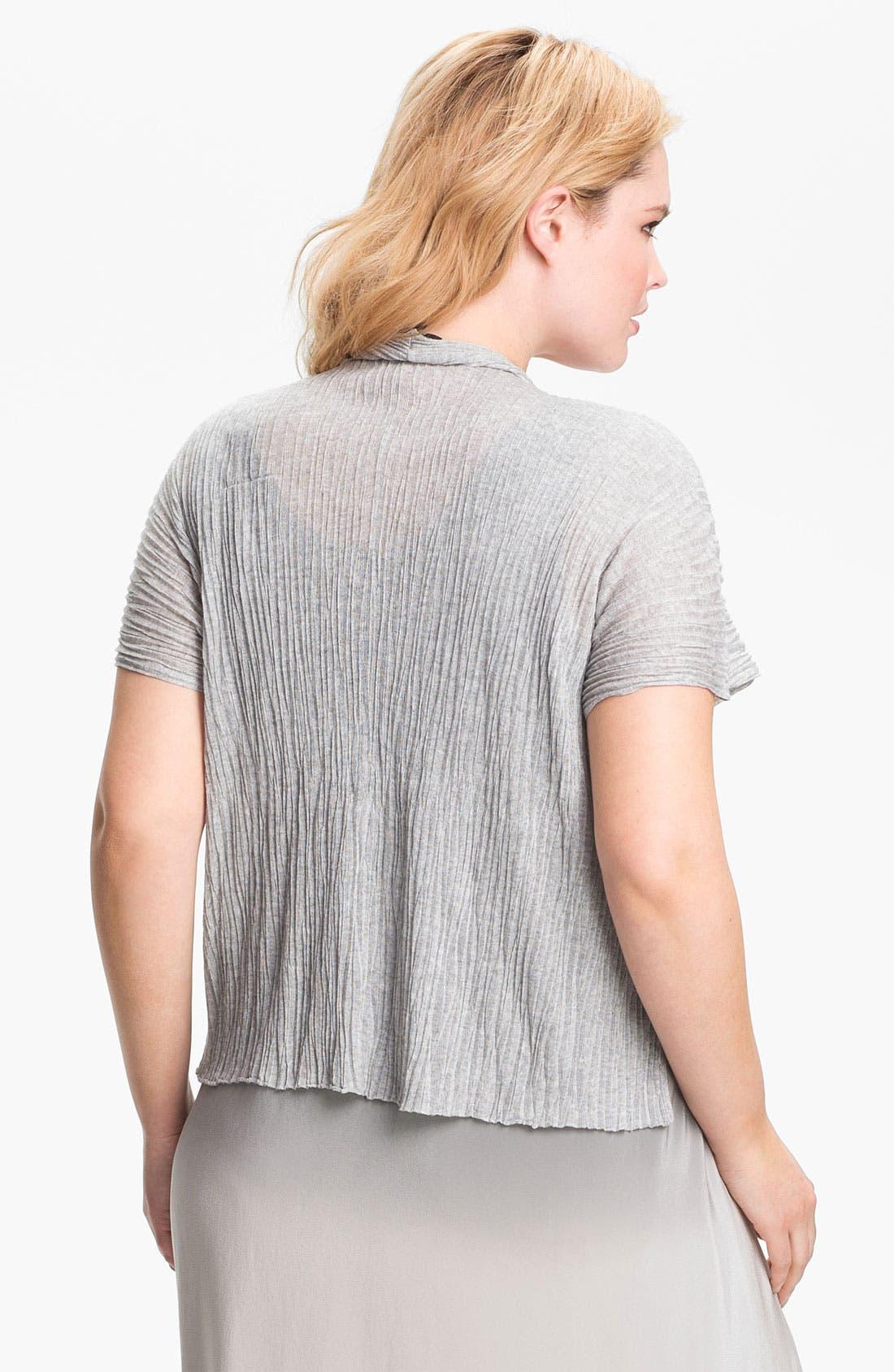 Alternate Image 2  - Eileen Fisher Textured Crop Cardigan (Plus)
