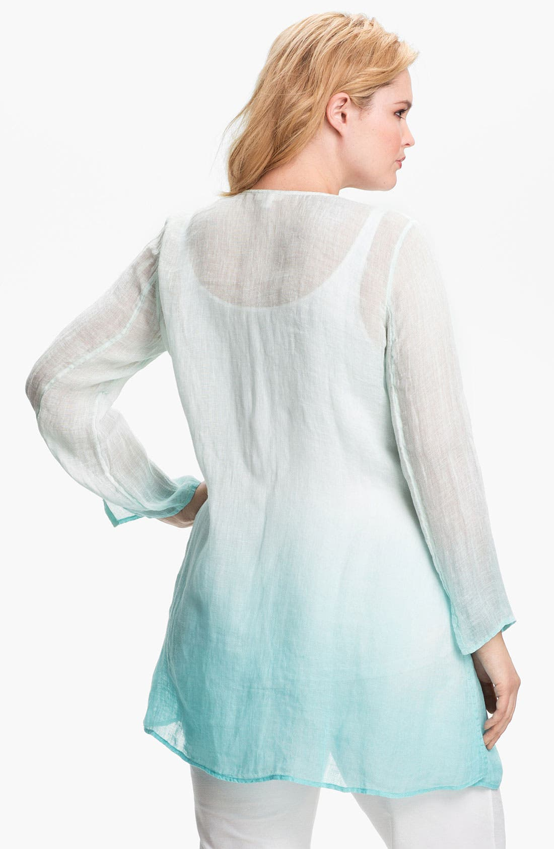 Alternate Image 2  - Eileen Fisher Ombré Linen Tunic (Plus Size)